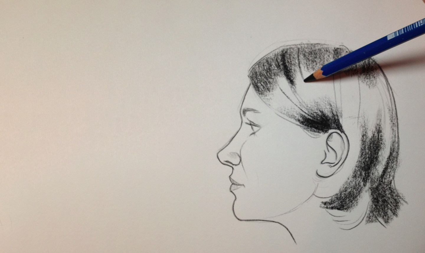keys to drawing realistic hair conquering the coiffure craftsy