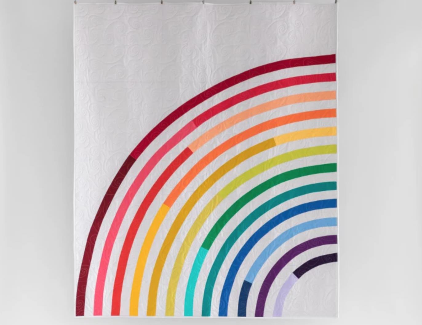 rainbow bias tape quilt