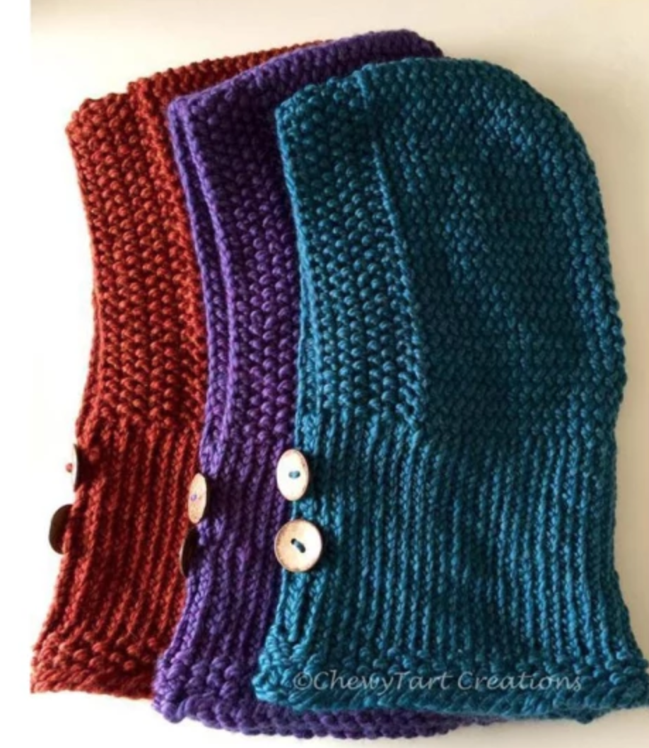 Cozy Hooded loom knit Cowl
