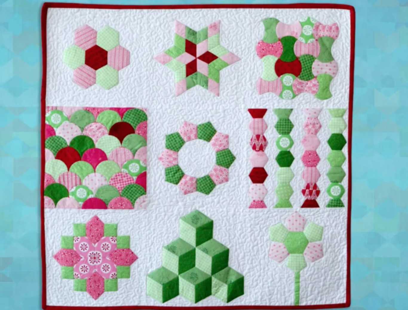 english paper piecing mini quilt