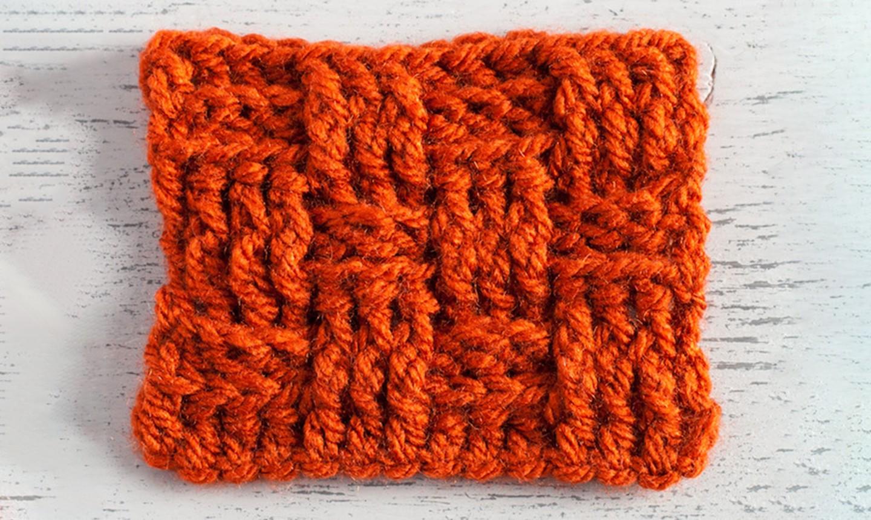 crochet basketweave stitch swatch