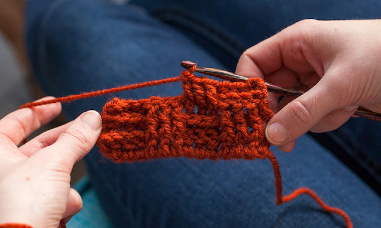 basketweave crochet stitching