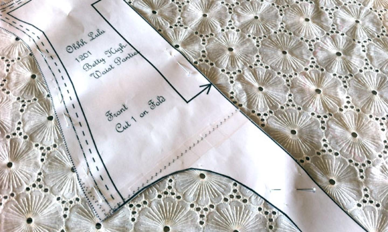 placing pattern piece