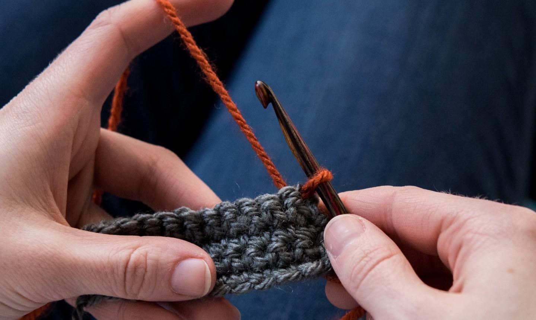crochet spike stitch