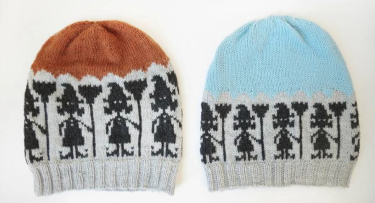 fair isle knit witch hats