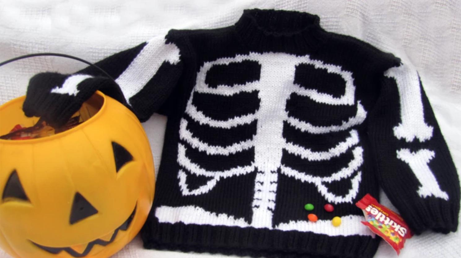 skeleton knit sweater