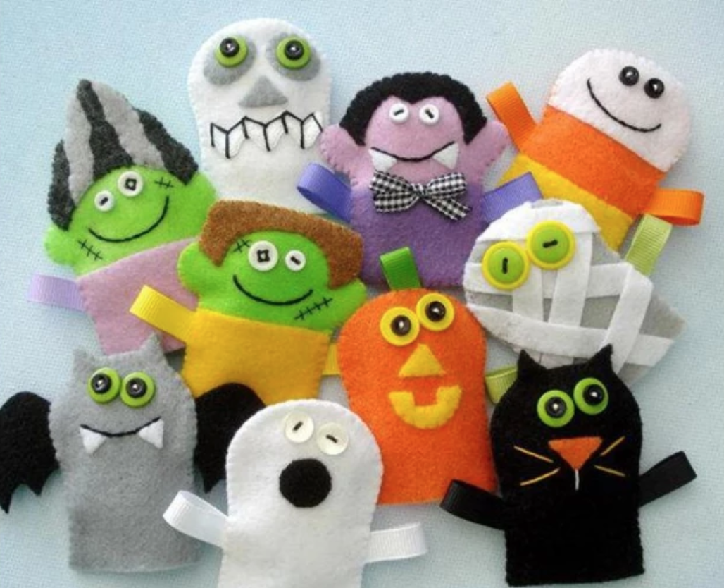 halloween felt finger puppets
