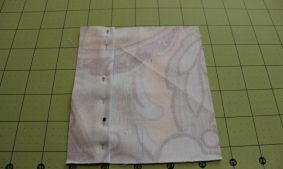 Fabric pinned for box pleat