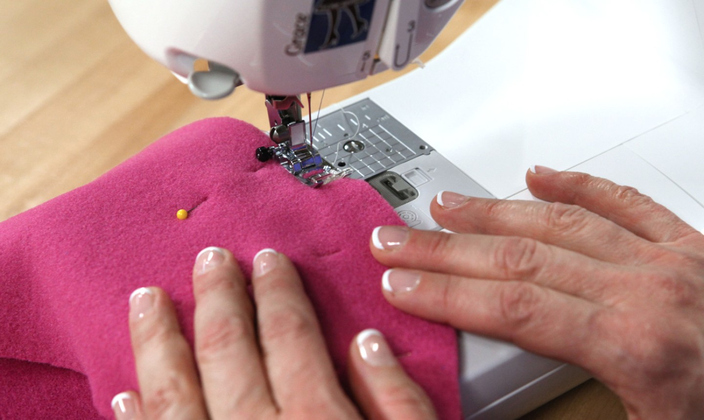 Sewing fleece on sewing machine