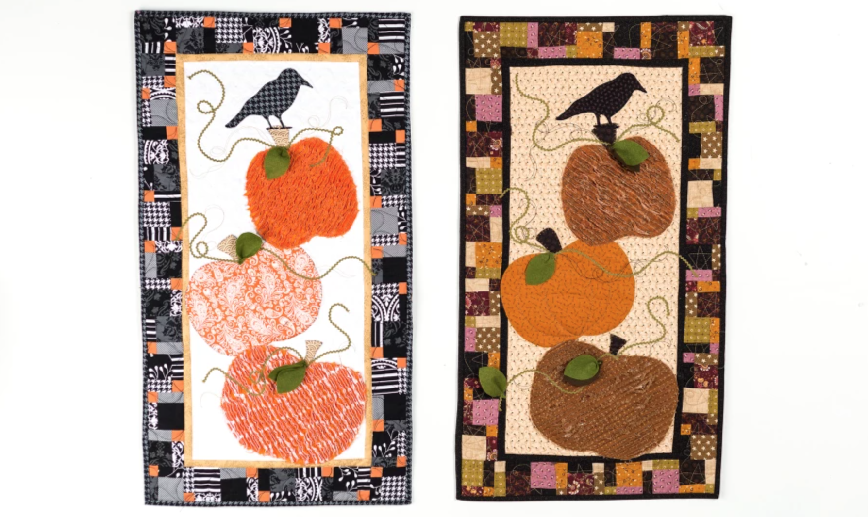 two pumpkin table runners