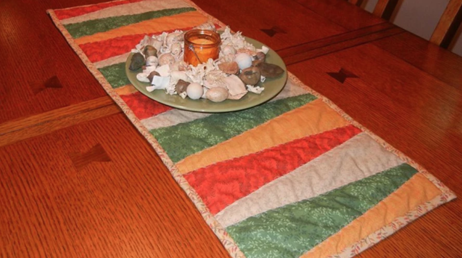 triangle fall table runner