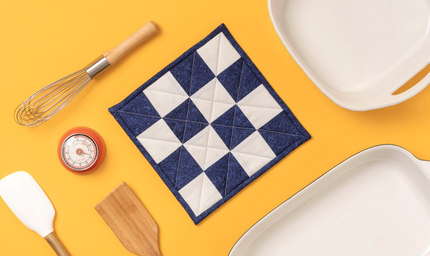 quilted checkered potholder