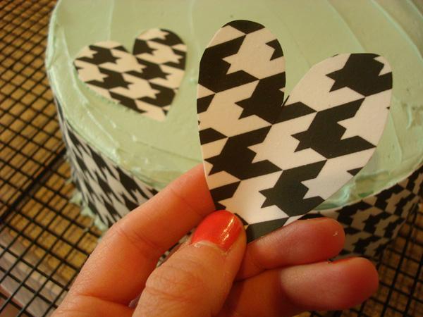 sugar sheet cut into heart
