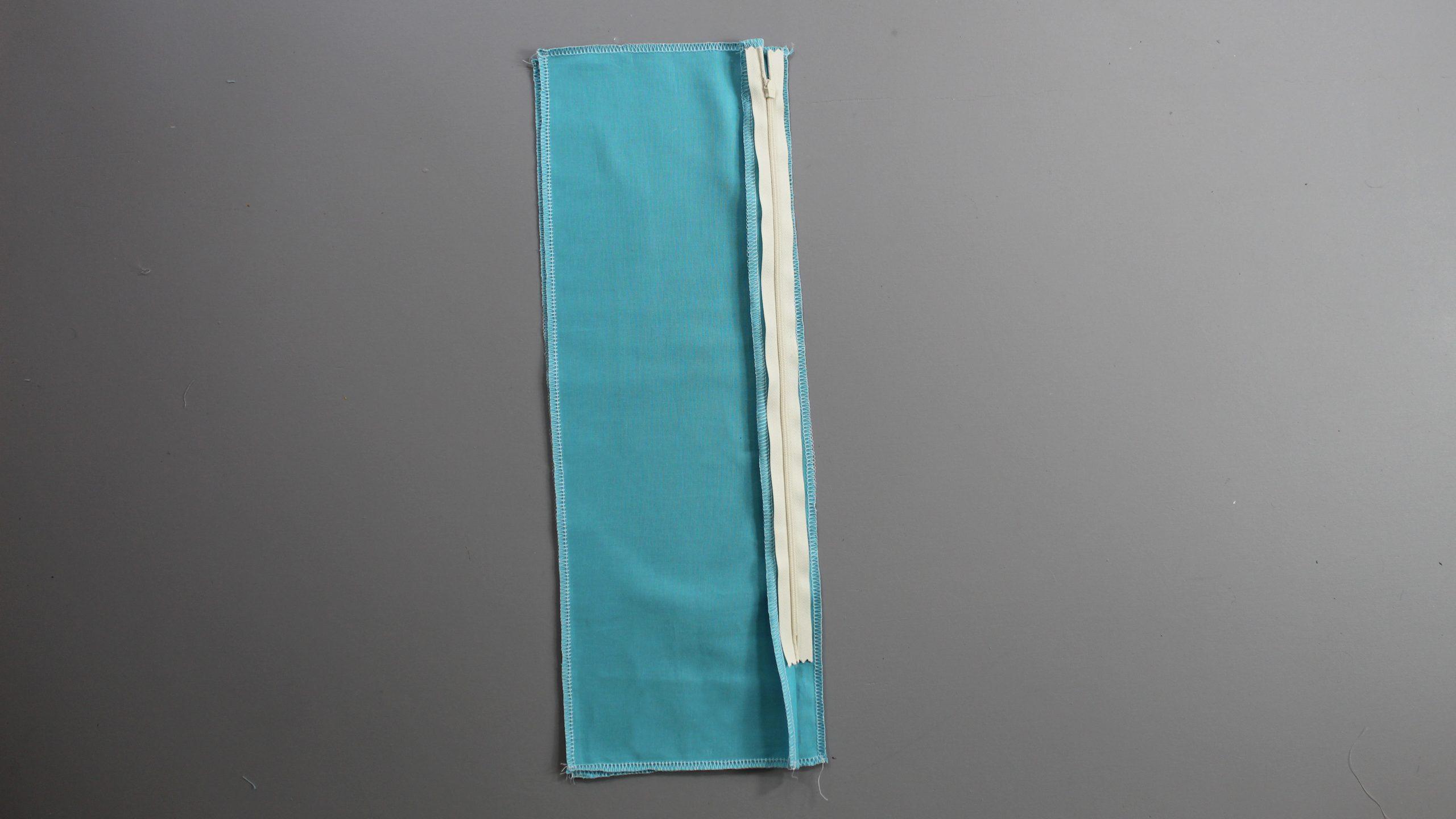 Zipper seam folded over