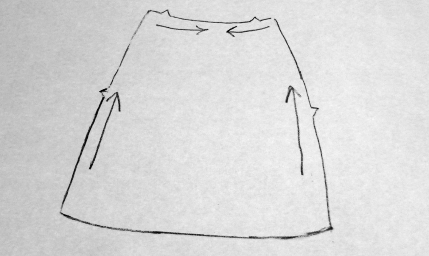 diagram on staystitching a skirt