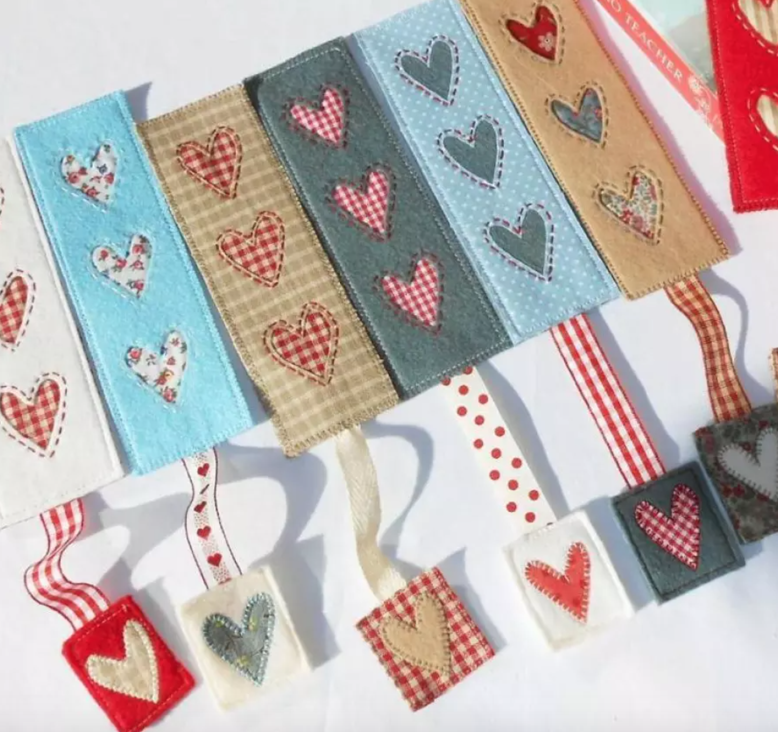 country heart bookmarks