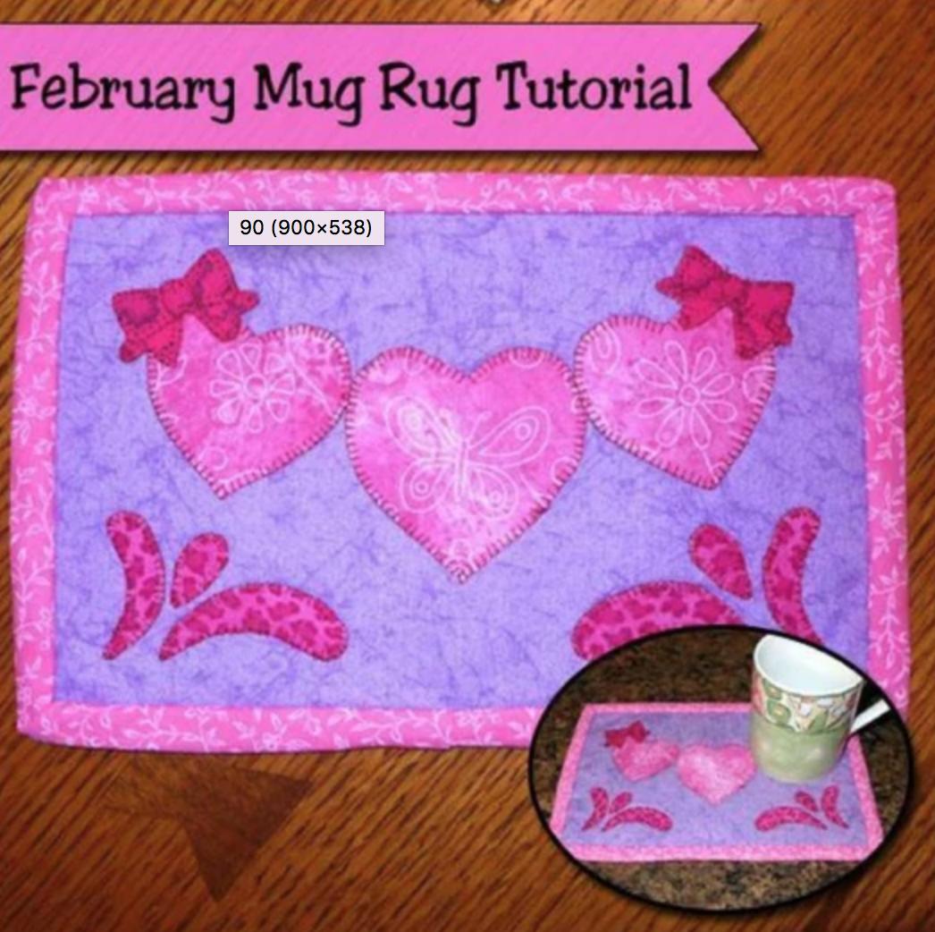 February mug rug