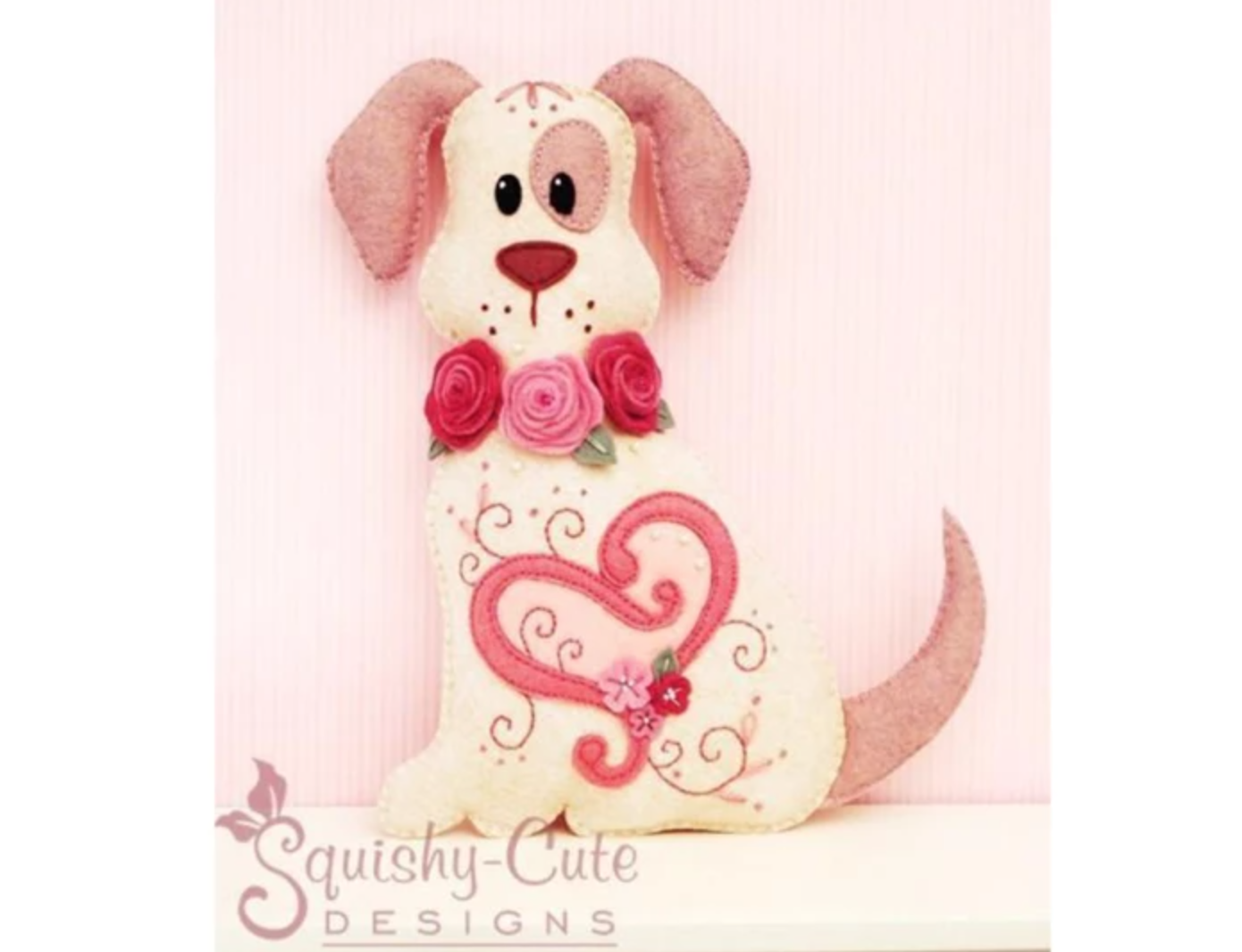 sewn valentine dog