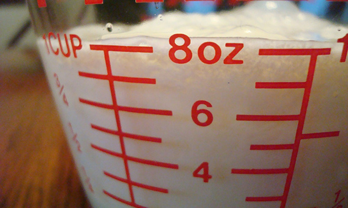 Milk in a Glass Measuring Cup
