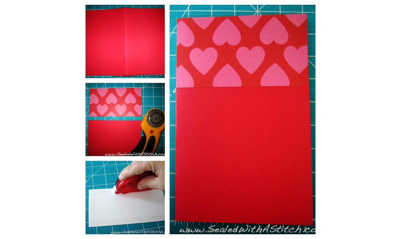 making valentine card