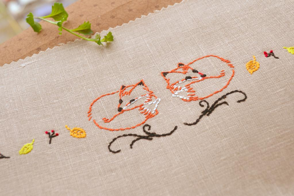Foxes Embroidery Pattern