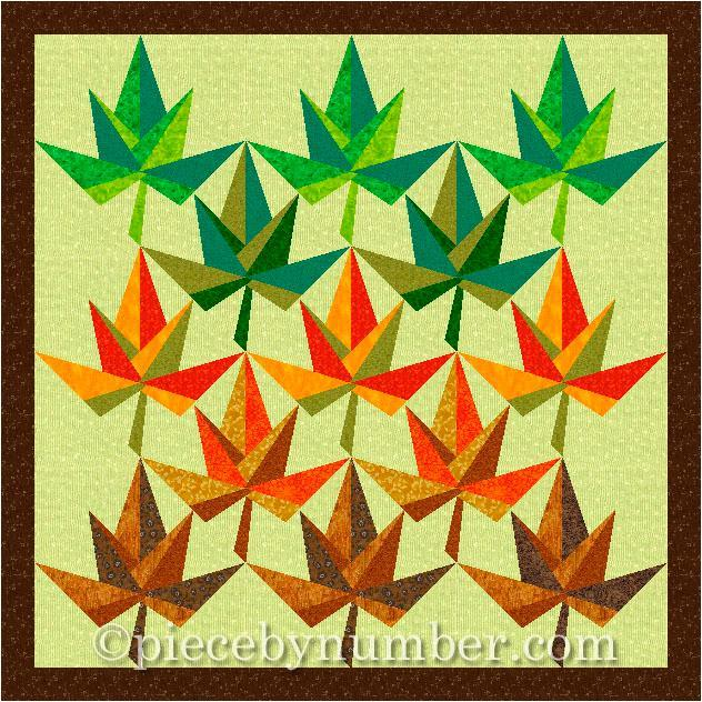 Maple Leaf Paper Pieced Quilt Block