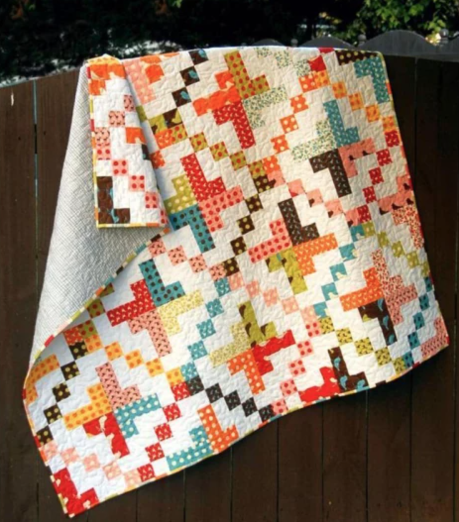 on a jelly roll quilt