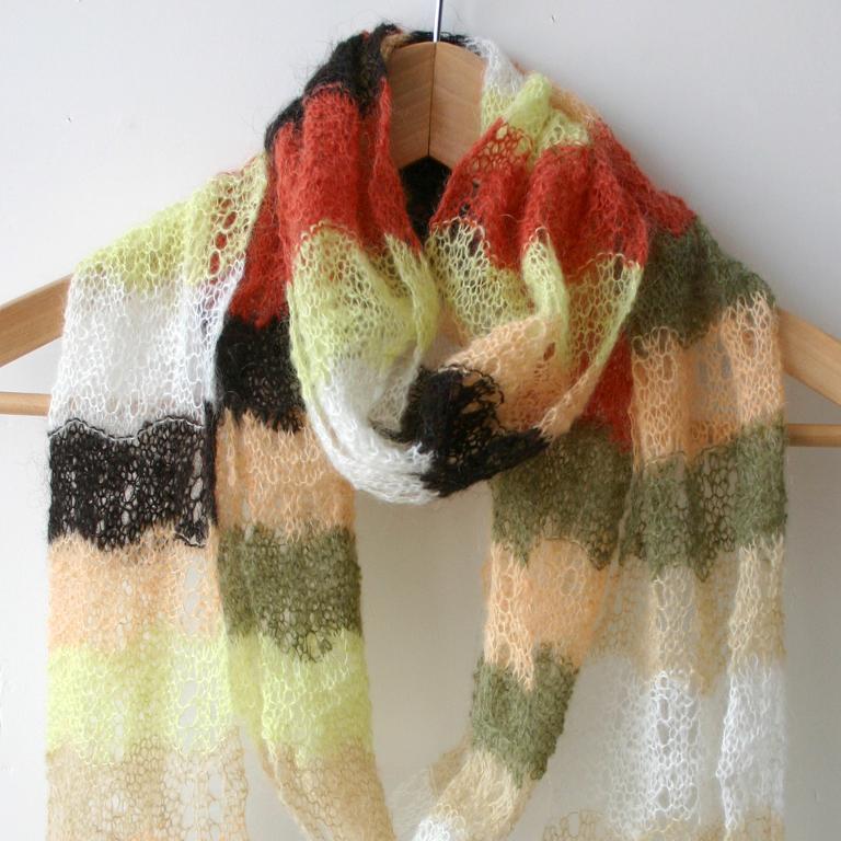 yarn striped scarf