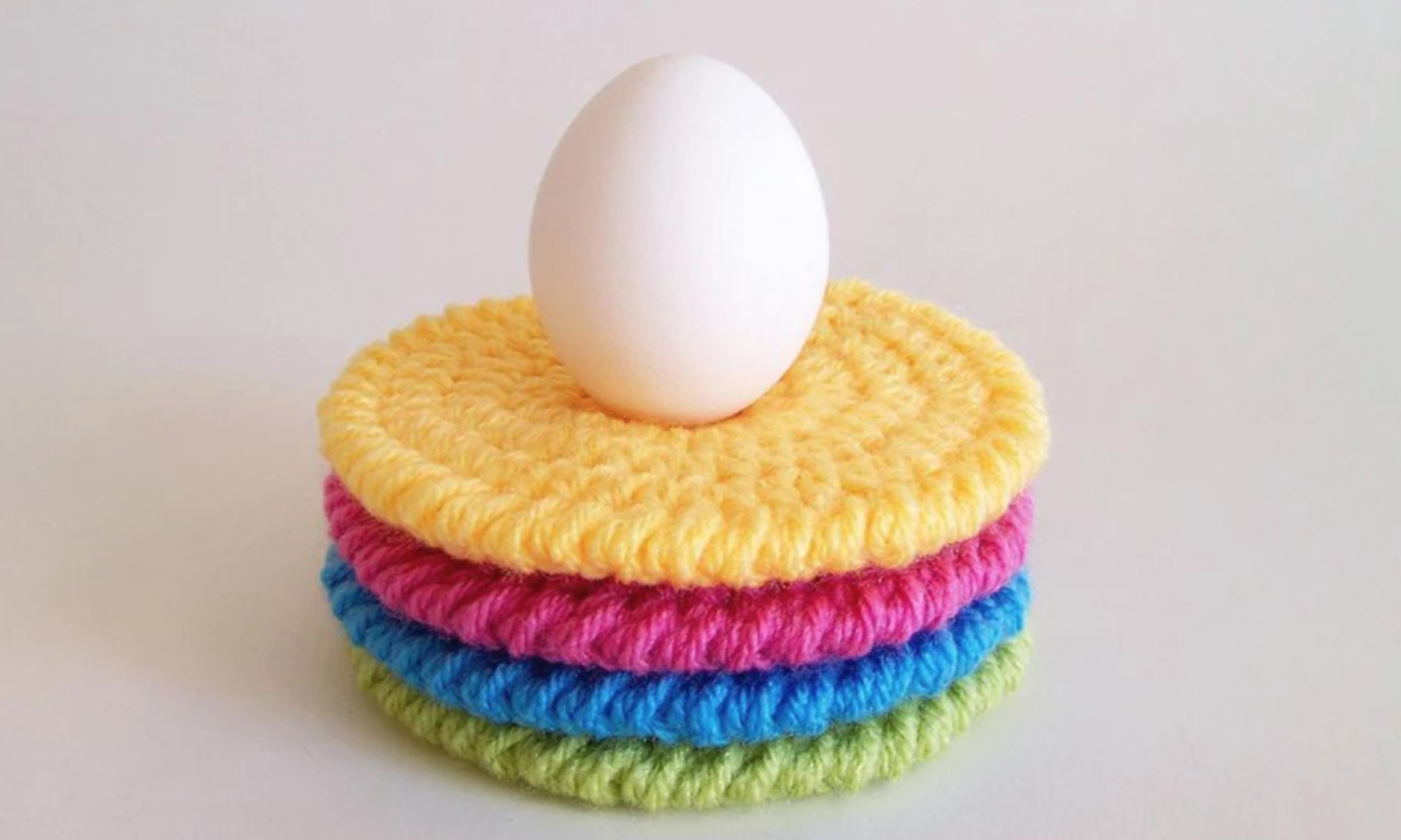 crochet colorful coasters