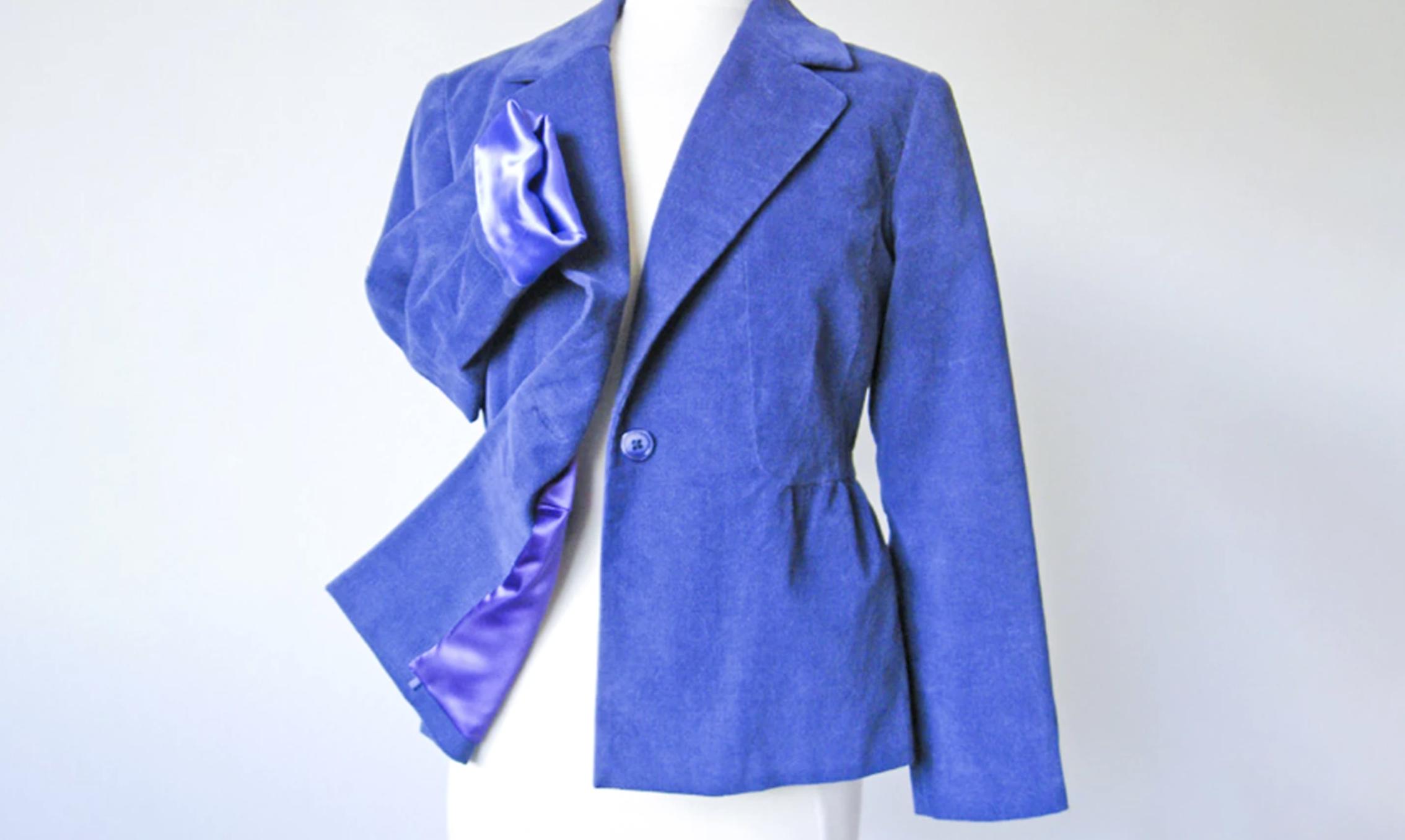 blue jacket on mannequin