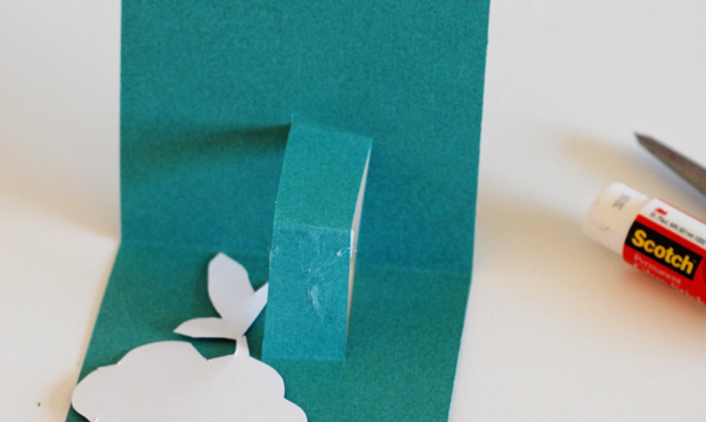 gluing pop up mothers day card