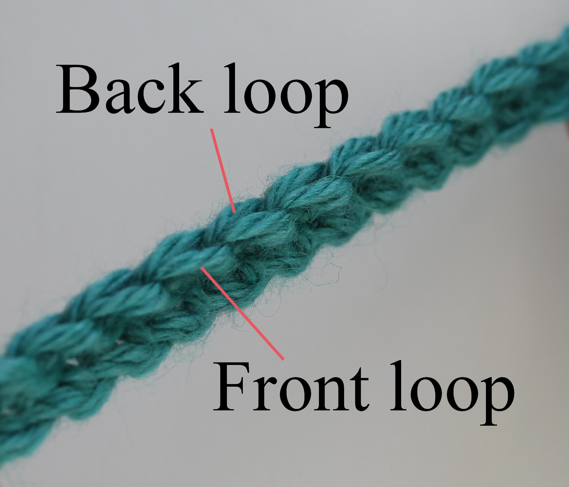 Back loop stitch