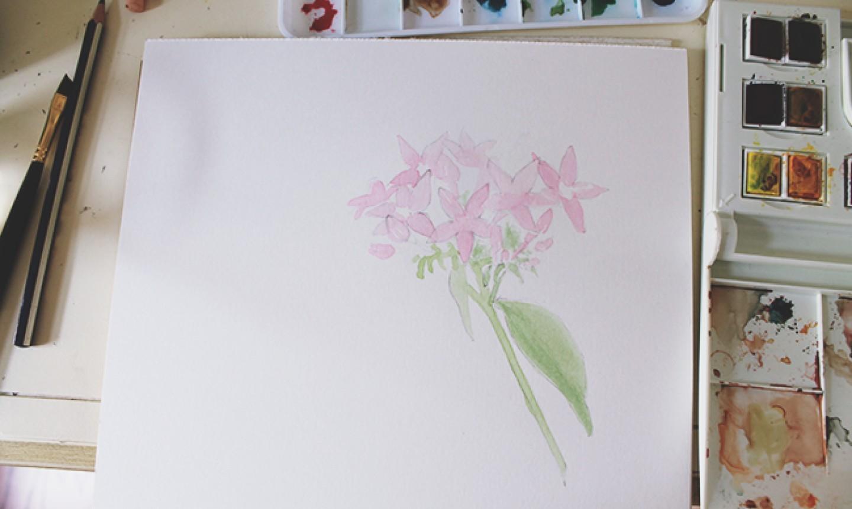watercolor bouquet base