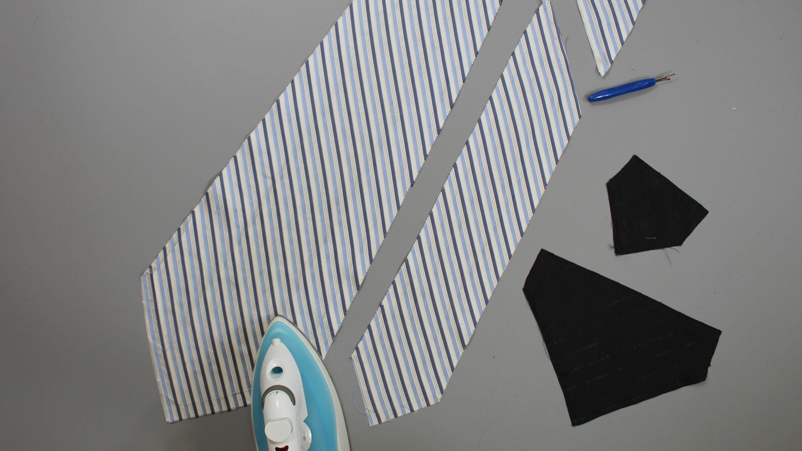 Tie pattern pieces