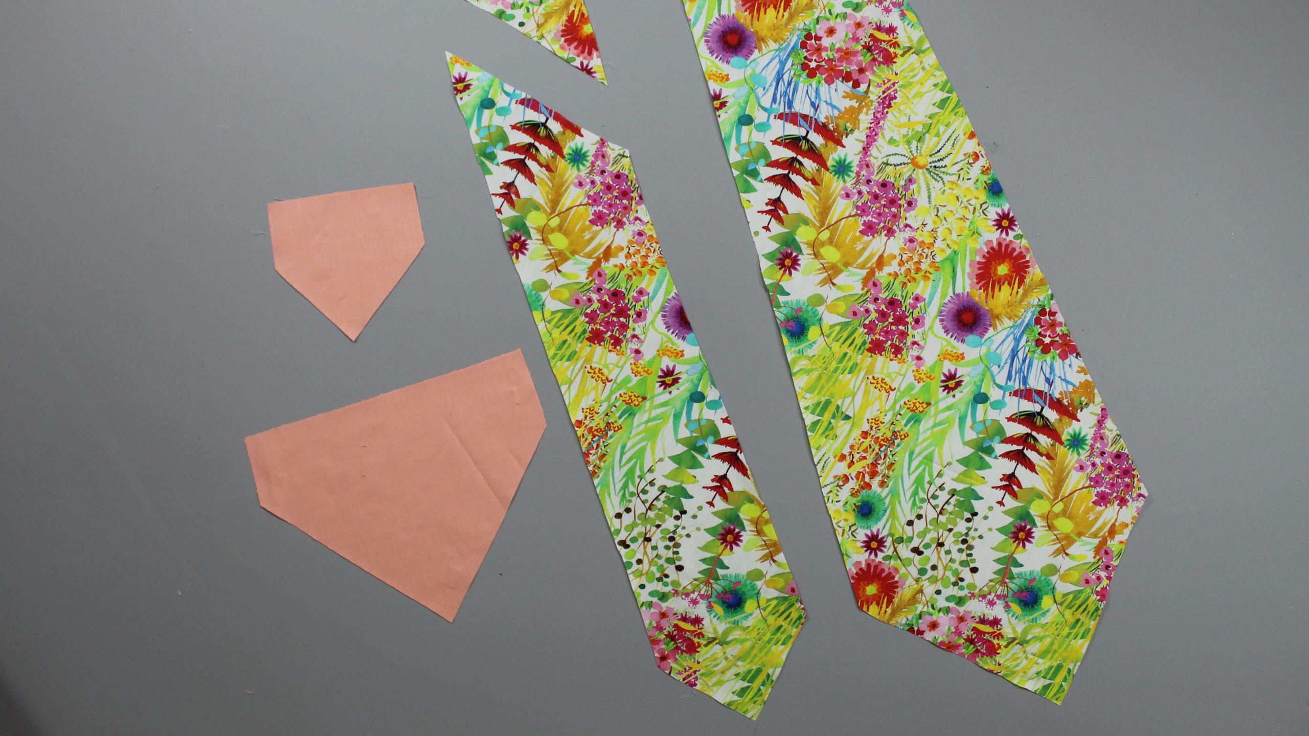 Tie fabric pieces