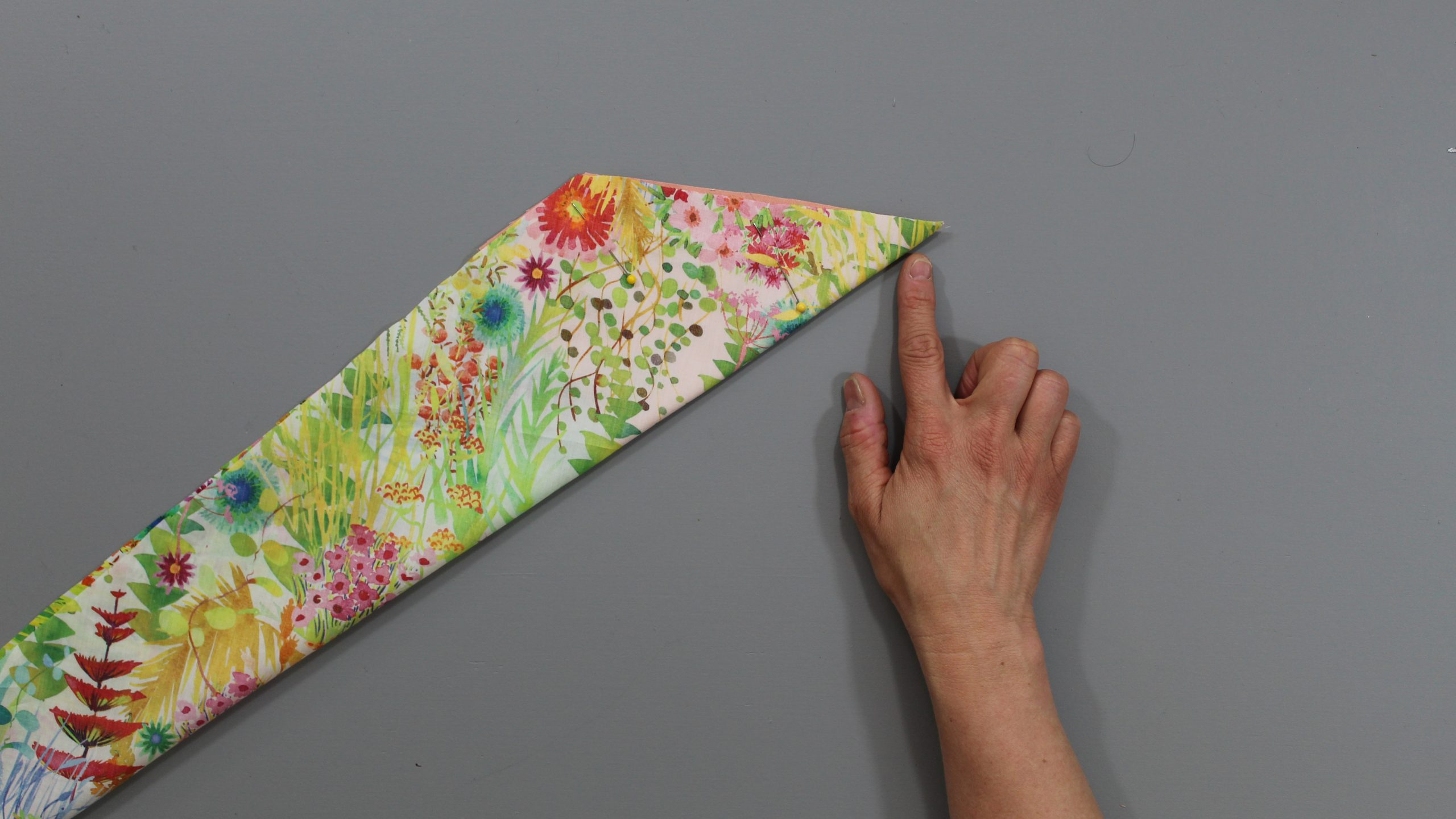 Folded fabric pieces