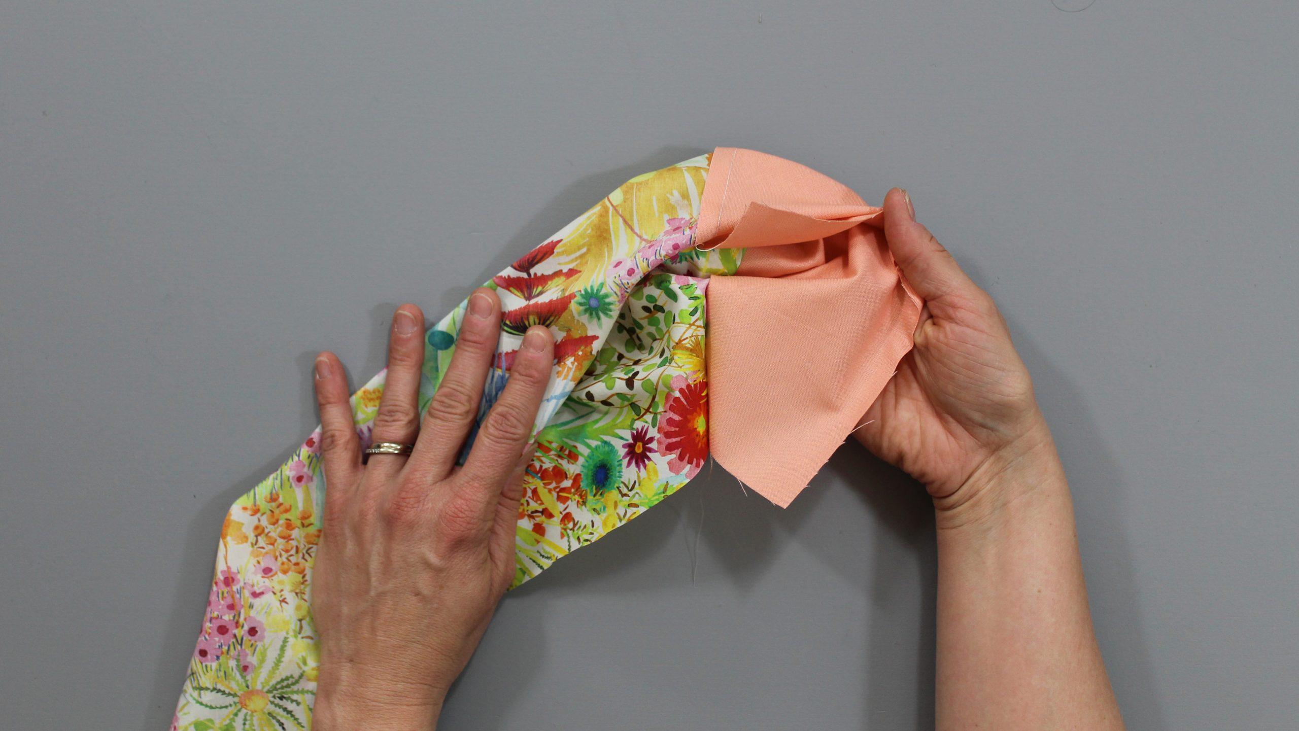 Flipping fabric