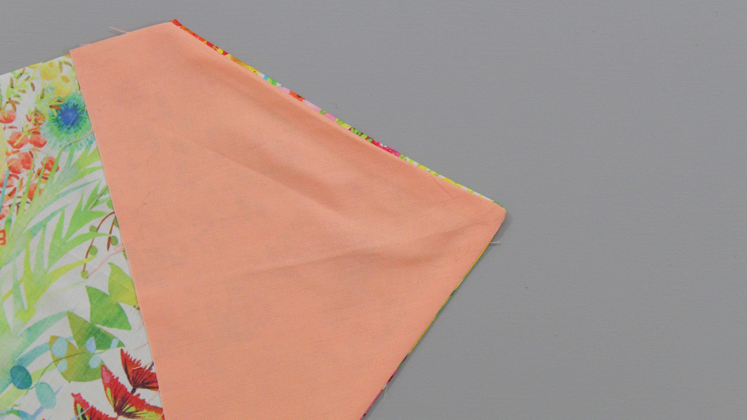 Adding fabric to tie