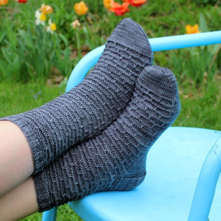 knit gray socks