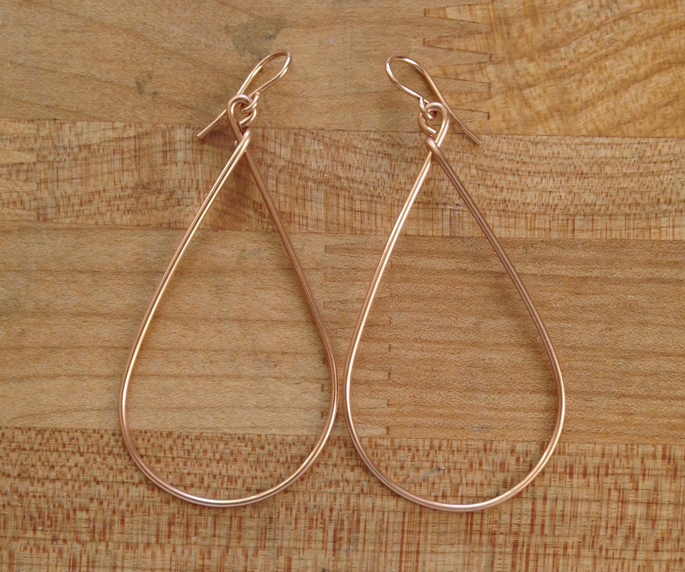 earrings Rose gold long earrings artistically handmade gift earrings