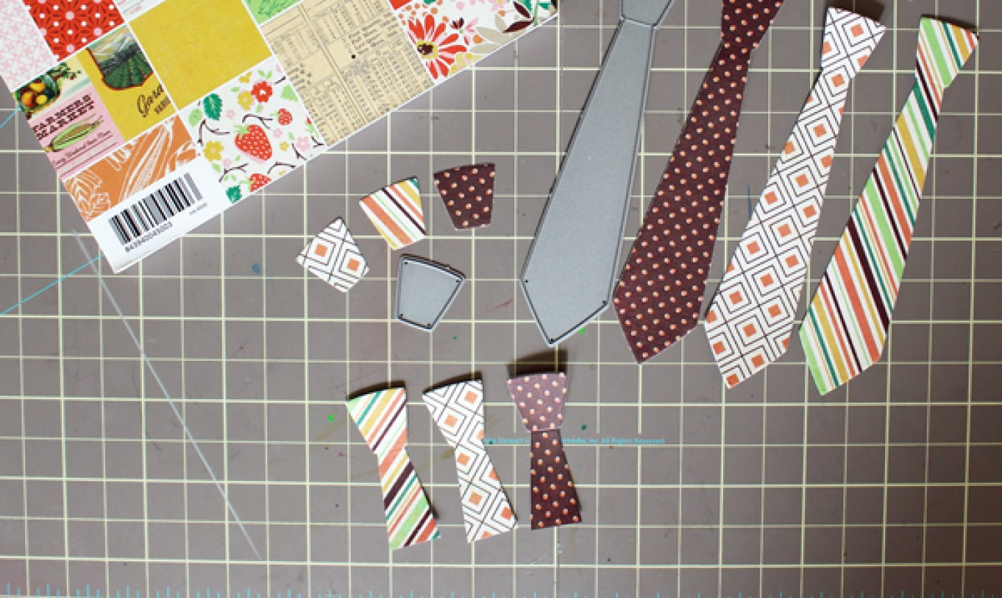 cut out paper ties