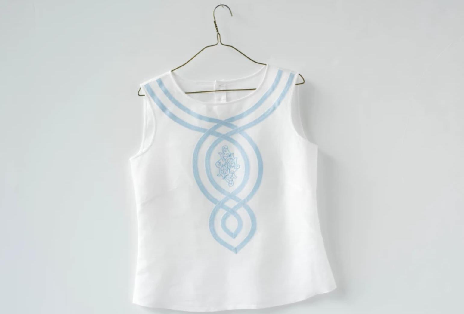 bias tape applique shirt design