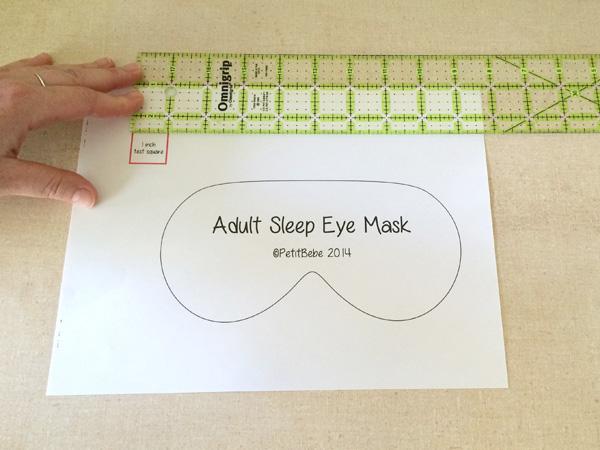 Eye mask pattern
