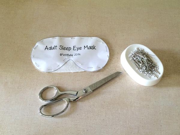 Cutting out eye mask and batting