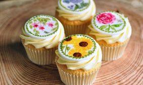 Sunflower Botanical Cupcakes