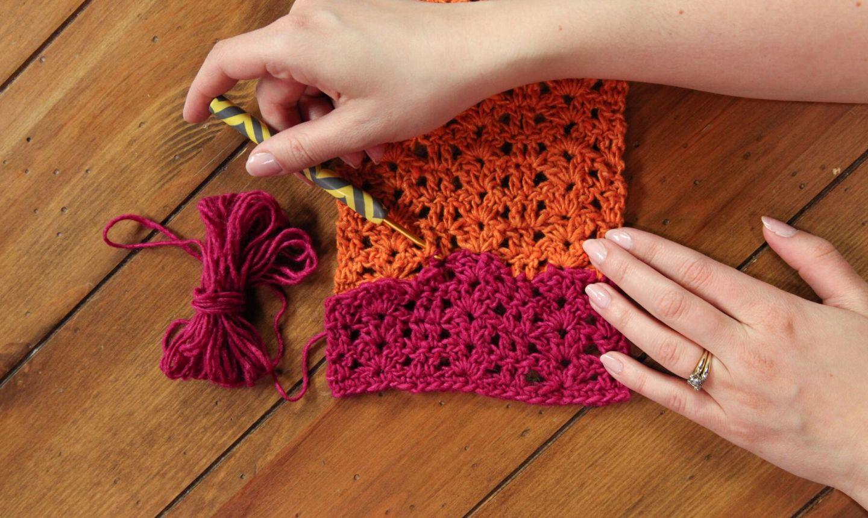 weaving in crochet ends
