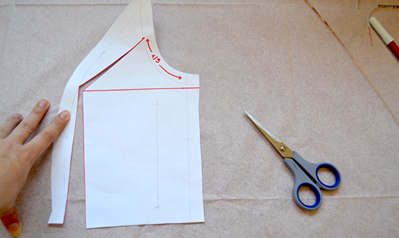 tracing princess seam pattern piece