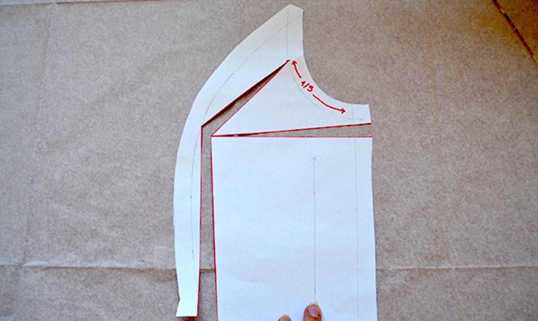 cut princess seam pattern pieces