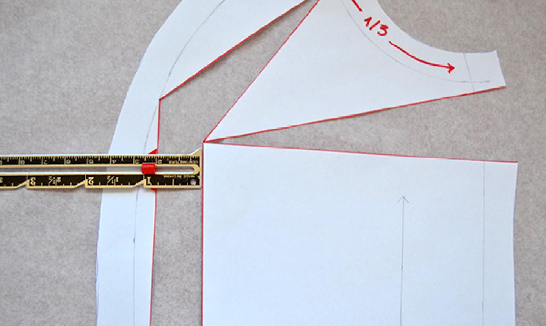 measuring cut princess seam pattern