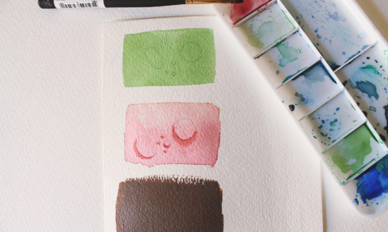 sketching and shading water drop painting